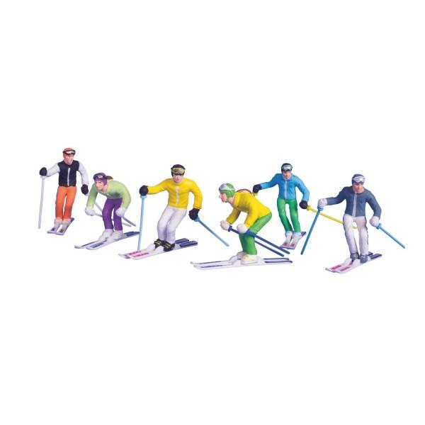JC 6 FIGUREN mit Ski & Stöcken 54400