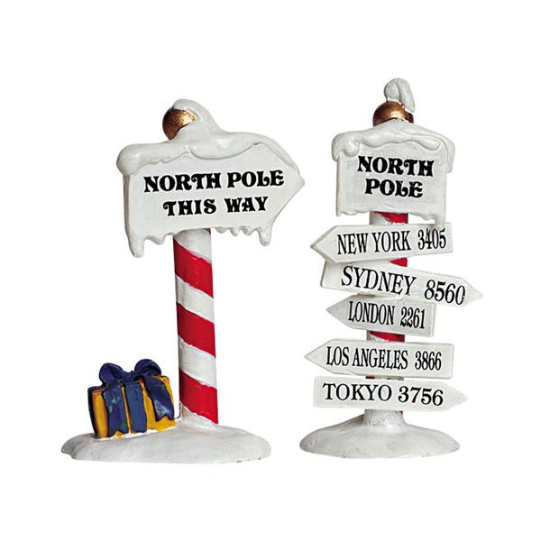 LEMAX - North Pole Signs