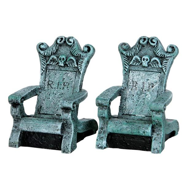 LEMAX - Tombstone Chairs