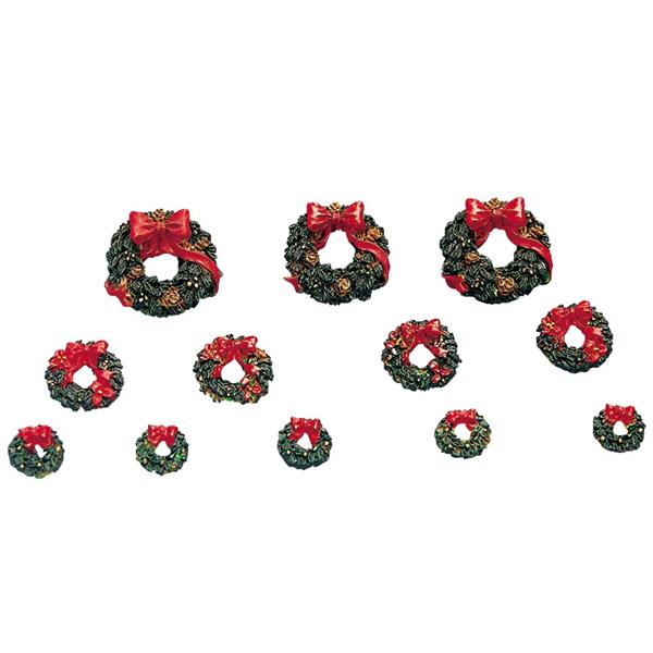 LEMAX - Wreath With Red Bow