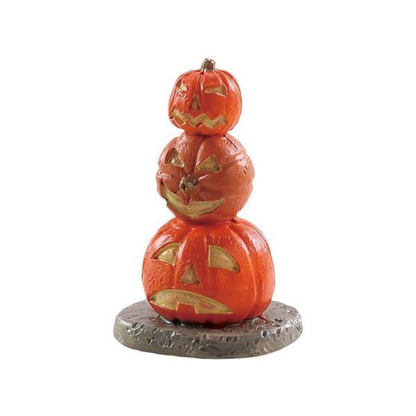 LEMAX - Stacked Spooky Pumpkins